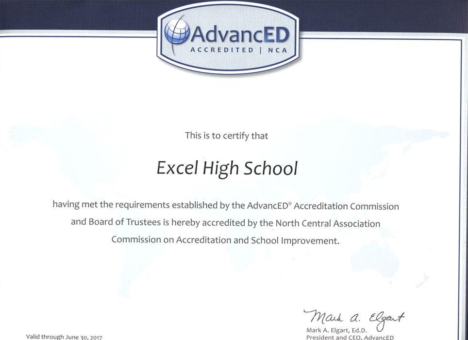 AdvacnED Certificate